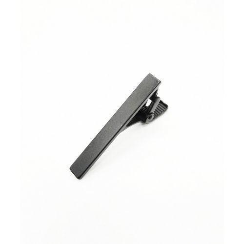 Зажим для узкого галстука матовый черный Z134