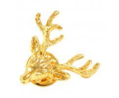 Значок Королевский Олень золотистый Z210