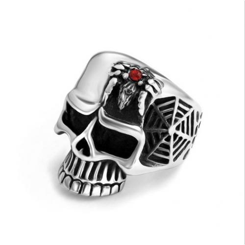 Печатка с черепом и пауком R8051