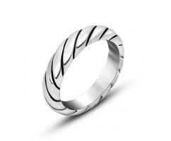 Плетеное кольцо из стали R8056