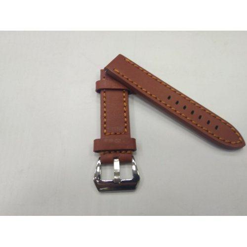 Ремешок из плотной кожи с прошивкой рыжий ST273
