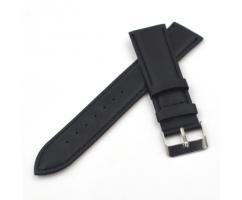 Ремешок из кожи черный с прошивкой ST221