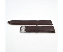 Ремешок из кожи коричневый с прошивкой ST222