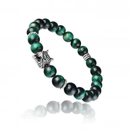 Вэйн браслет из зеленого тигрового глаза SH8457