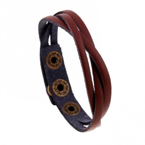 Вилсон браслет плетеный из кожи QB121