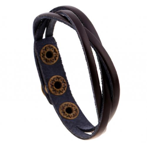 Темно-коричневый Вилсон браслет плетеный из кожи QB122