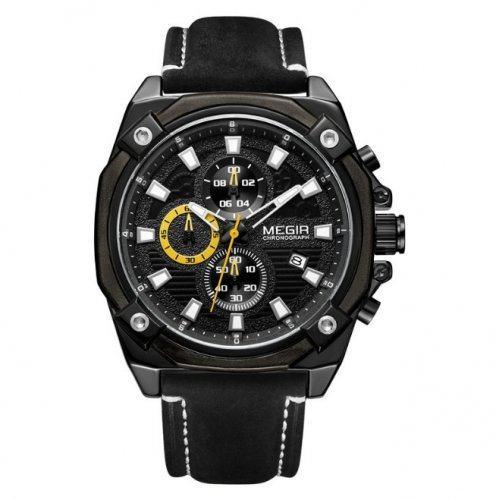 Часы Megir Fly черно-коричневые