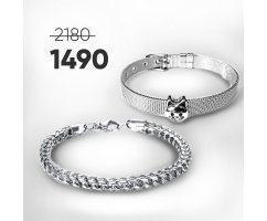 Парные браслеты Лак-Нуар SH8628