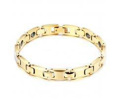 Вольфрамовый браслет золотой WB8165