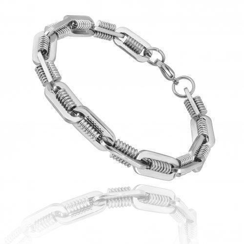 Агравейн браслет стальной необычного плетения SBC385