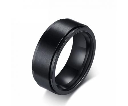Кольцо антистресс черное матовое R139