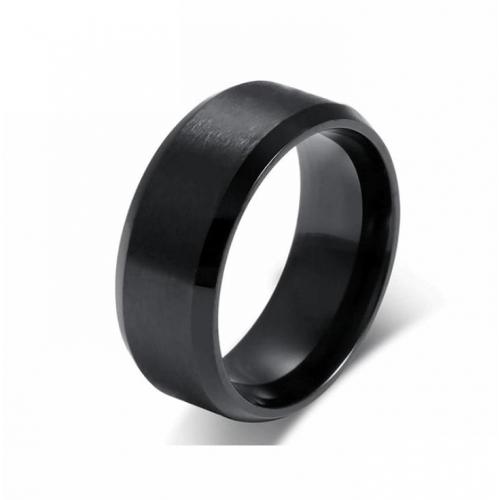 Кольцо черное матовое базовое R143