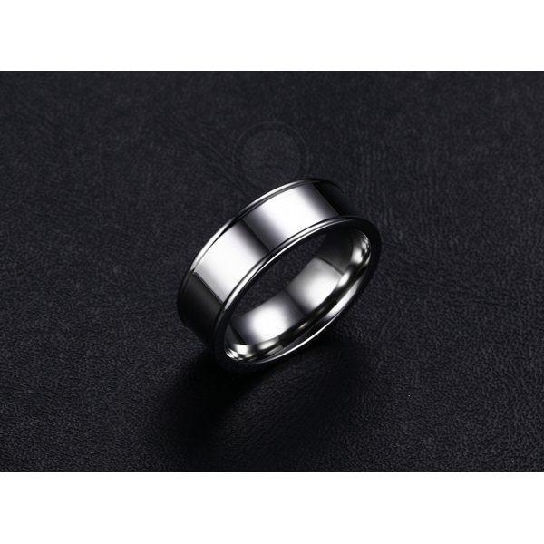 Кольцо из стали с боковыми гранями R146