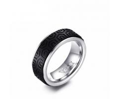 Кольцо из стали с карбоновым покрытием R148