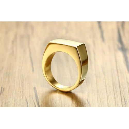Печатка кубизм золотистая R150