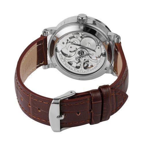 Часы Winner коричнево-серебряные
