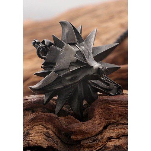 Кулон черный из стали The Witcher K326