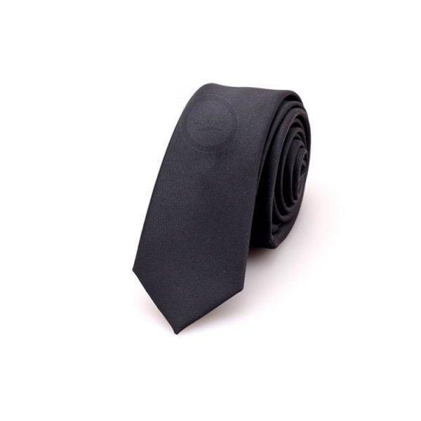 Daniel галстук черный однотонный NT24