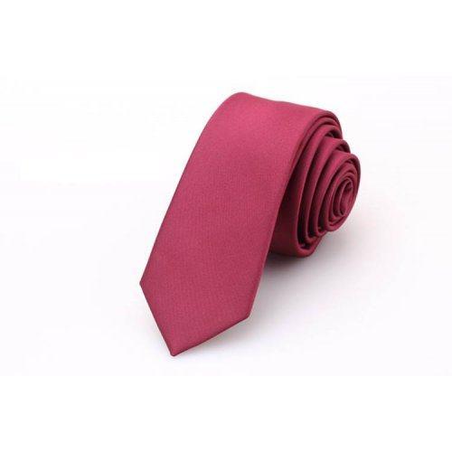 Pascal галстук бордовый однотонный NT17