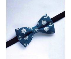 Бабочка с якорями синяя BC560