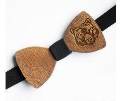 Бабочка деревянная Медведь BD23