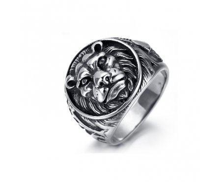 Перстень со львом R1552