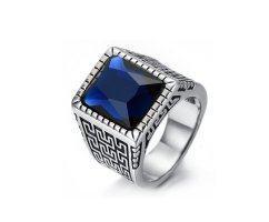 Перстень с синим камнем R1727