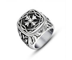 Перстень с крестом R122