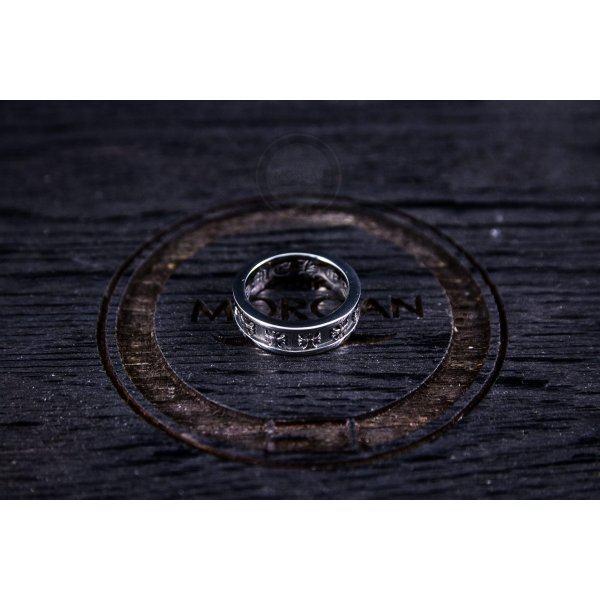 Мужское кольцо с крестами в стиле Chrome Hearts