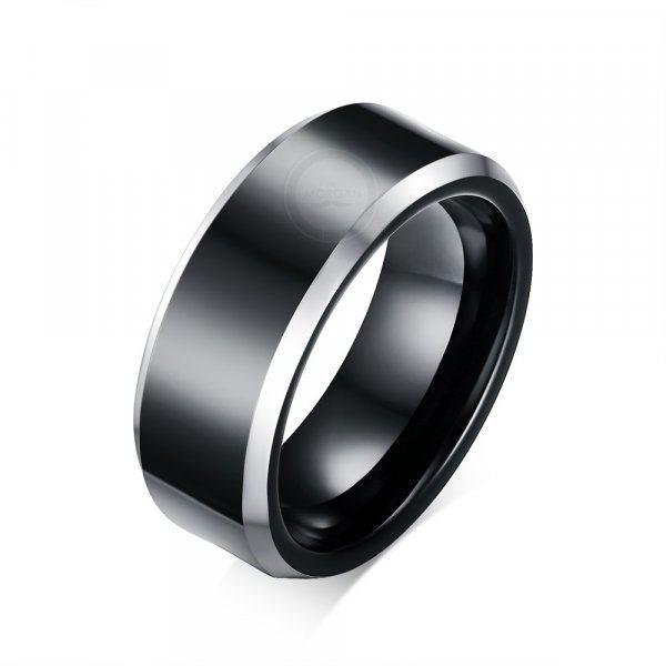 Кольцо из вольфрама черное