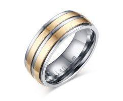 Кольцо из титана золотистое R1208