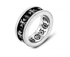 Мужское кольцо с крестами в стиле Chrome Hearts R2176