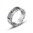 Кольцо классическое стальное с узорами