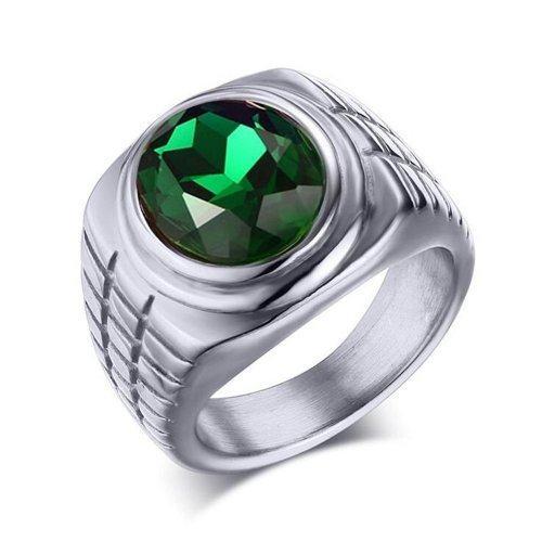 Перстень с зеленым камнем
