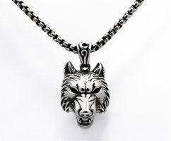 Кулон с головой волка K246