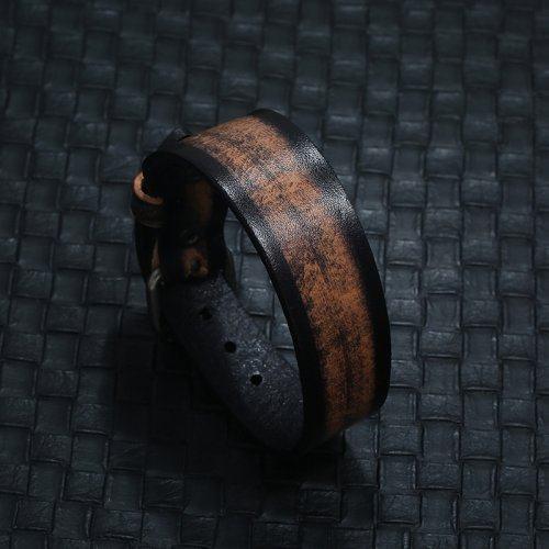 Браслет кожаный винтажный QB235