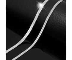 Цепочка плоская плетения снейк C104