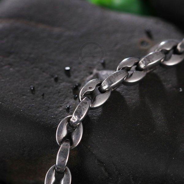 Цепочка якорного плетения из стали черненная