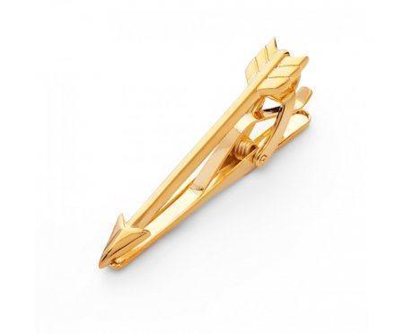 Зажим золотой стрела Z109
