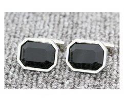 Запонки с черным камнем ZP1457