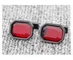 Запонки с красным камнем ZP1465