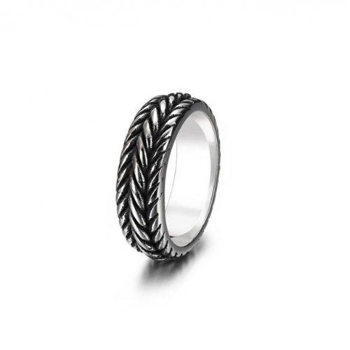 Кольцо из стали античное R006