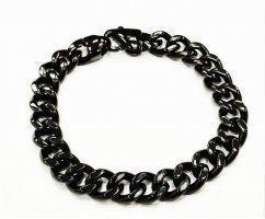 Черный браслет панцирного плетения SB1666