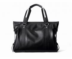 Сумка-портфель из натуральной кожи черная SM170
