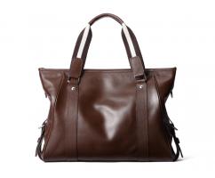 Сумка-портфель из натуральной кожи кофейная SM171