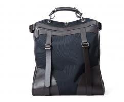 Рюкзак из кожи и канваса темно-синий SM279