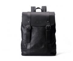 Рюкзак из натуральной кожи черный SM352
