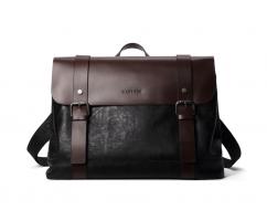 Сумка-портфель черно-коричневая SM376