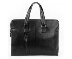 Портфель Mr. MORGAN  из натуральной кожи черный SM3129