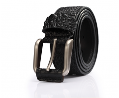 Мужской ремень из натуральной кожи для джинс крокодиловый RB45